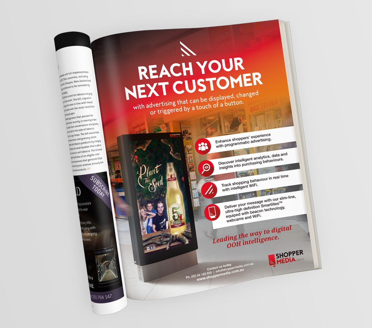 Shopper Media Group, SMG, LiquorWorld, Publication, Retailored, creative, design, graphic design